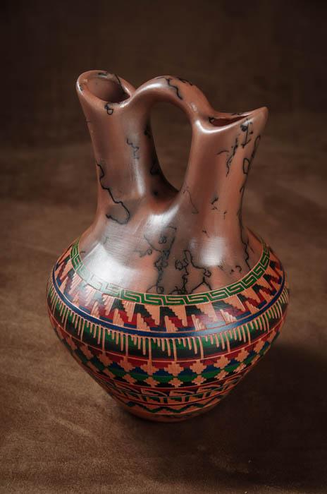IMGP0416 -Red Painted Desert Wedding Vase