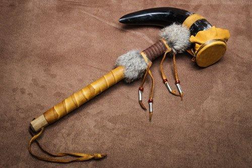 IMGP0051 Lakota (Sioux) Cow Horn Rattle