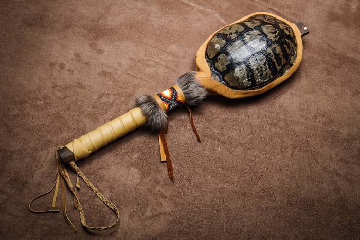 Home / Password Page / Artifacts / Navajo Turtle Shell Rattle