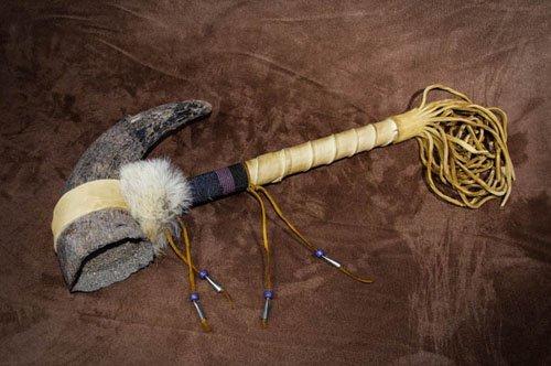 IMGP0239 Lakota Buffalo (Bison) Horn Rattle