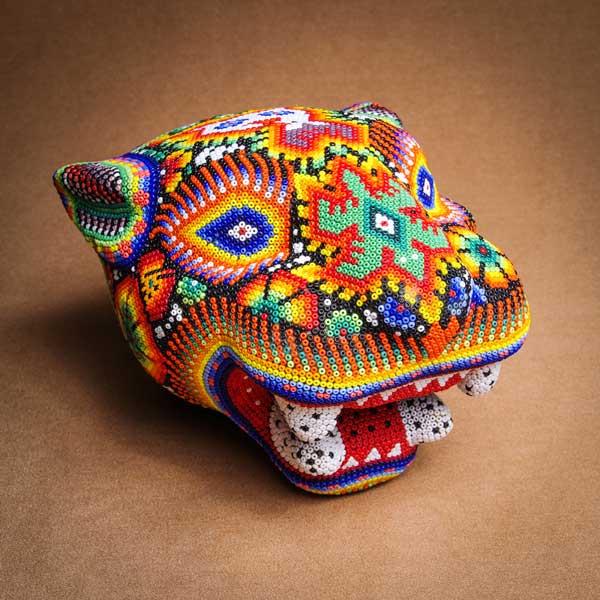 IMGP0310 -Rare Huichol Jaguar Head